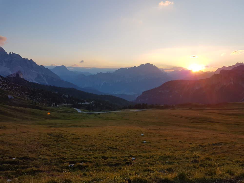 Sonnenaufgang am Passo Giaou