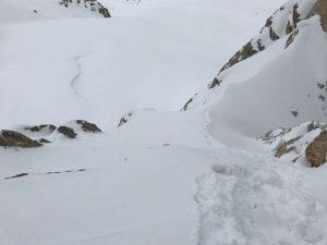 Schneewuhlerei im Aufstieg