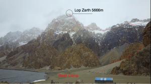 Lop Zarth mit ungefährer Route