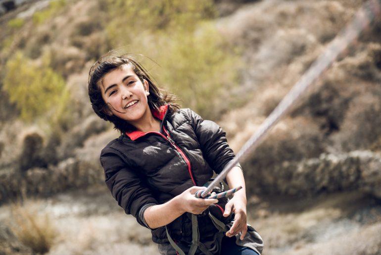 Erster Klettergarten in Shimshal