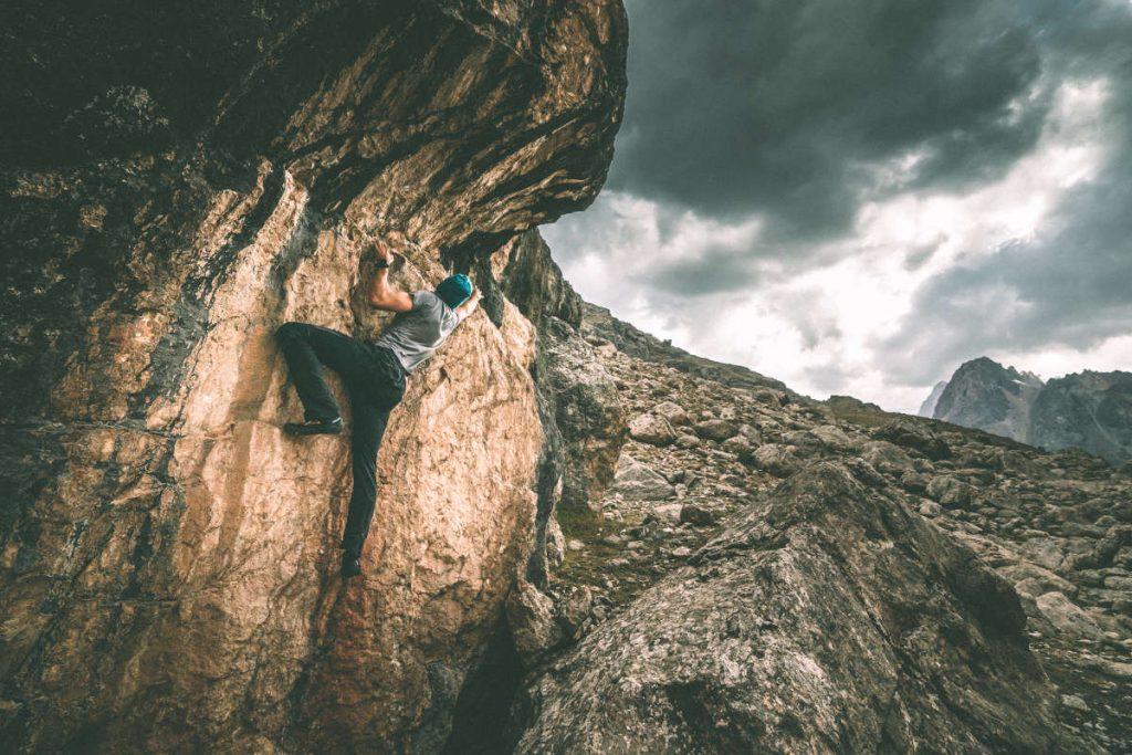 Martin beim Bouldern