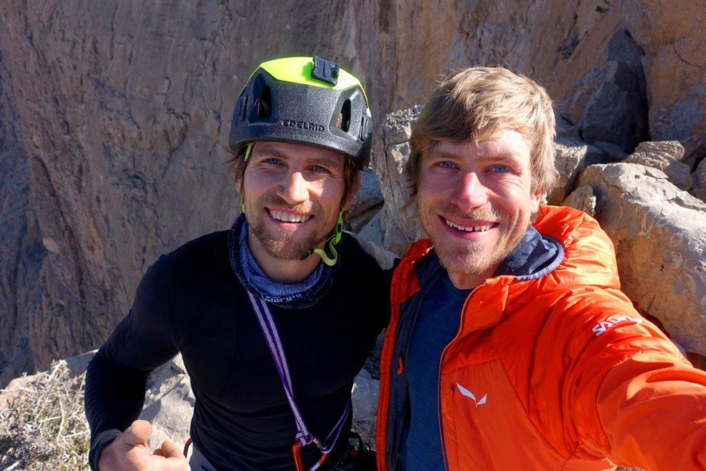 Selfie am Gipfelplateau des Jebel Kawr (Martin & Simon)